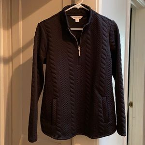 Cold water creek black quilted sweatshirt size M